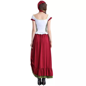 Image 4 - Adult Women Bavarian Oktoberfest Dirndl Costume Beer Festival Mardi Gras Ladies Sexy Funny Dress Long Outfit For Girls Plus Size
