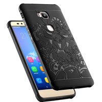 Luxury Protector 3D Carved Dragon High Quality Soft Silicone Shell Cover For Huawei Honor 5X X5
