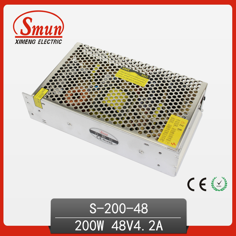 200W Power Supply 48V 4.2A Switching Power Supply 200W AC/DC Power Supply Unit AC-DC Converter S-200-48 led power supply switch 200w 12v 16 5a power supply unit ac dc converter s 200w 12v variable dc voltage regulator s 200 12