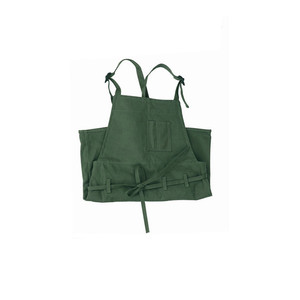 Image 4 - 1 pcs Army Green Painting Apron Ladies Latest Cooking Pocket Canvas Apron Artist Sleeveless Oil Painting Work Anti fouling Bib