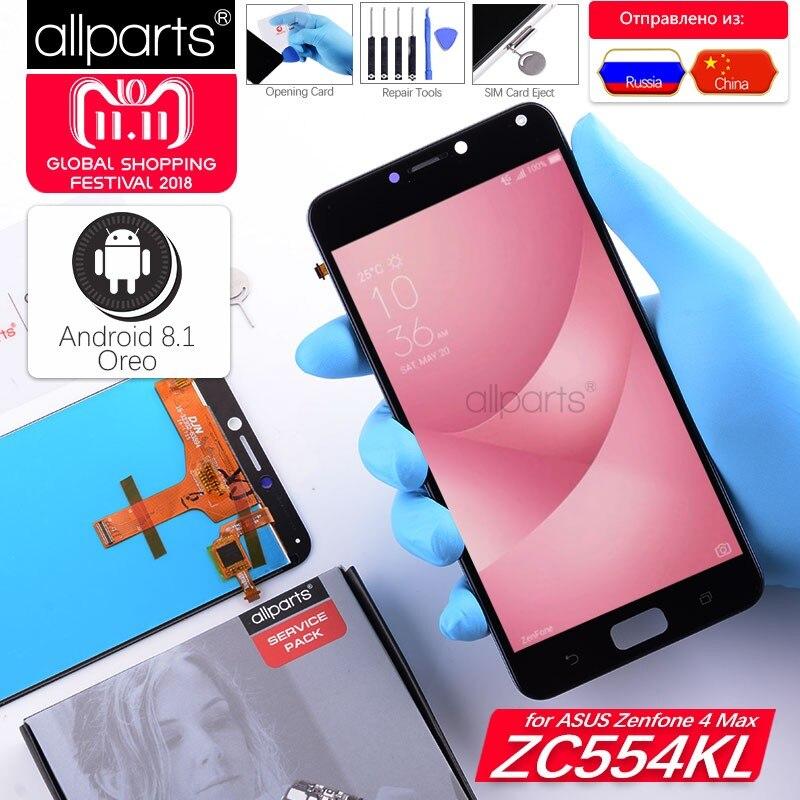 5,5'' NUEVO Original pantalla para Asus Zenfone 4 Max ZC554KL LCD Tactil Completa Display táctil Écran para ZC554KL LCD X001D pantalla LCD con marco Digitalizador reemplazo Negro Blanco