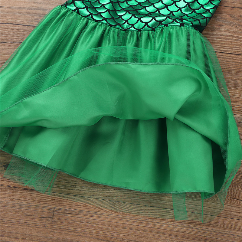 TiaoBug Kids Girls Sequins Mermaid Tails Halloween Cosplay Party Costume Fancy Dress Child Bikini Swimming Long Skirt