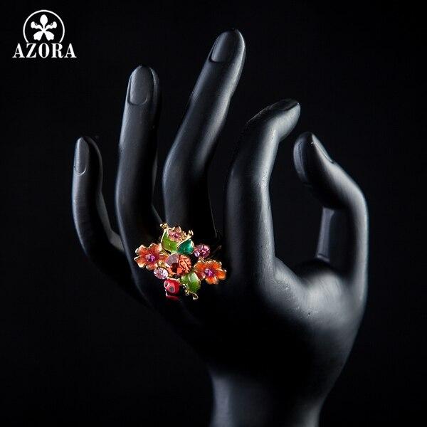 AZORA Guldfärg Stellux Österrikiska Crystal Multicolour Insects and - Märkessmycken - Foto 4