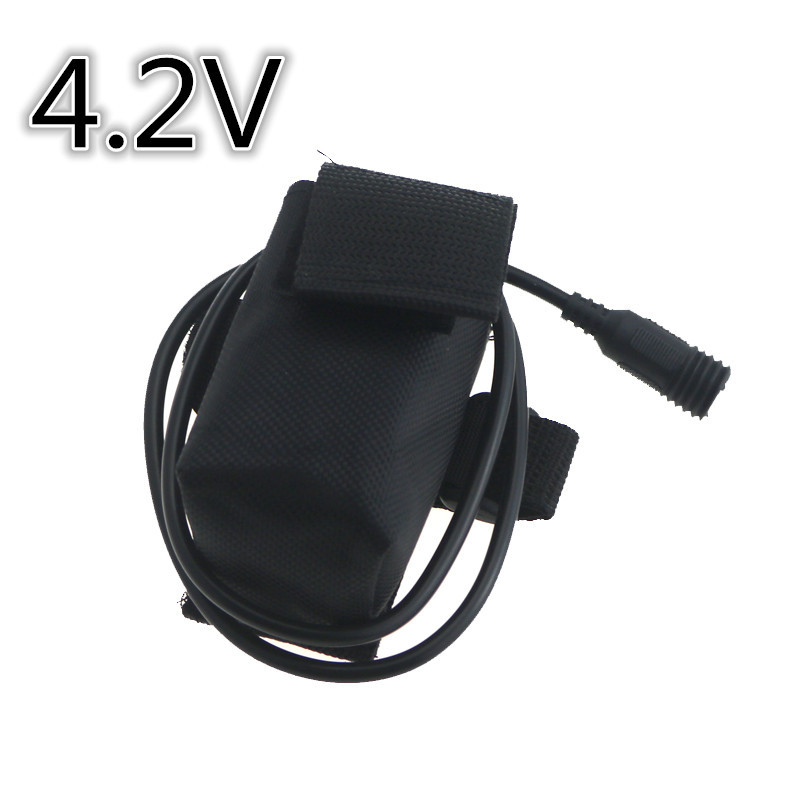 4.2v 6400mAh 4x18650 rechargeable Battery Pack 18650 bicycle Light Battery Power With Srew Thread for Cree Led bike Headlamp