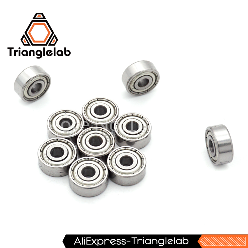 10pcs/pack  623ZZ bearing 623-ZZ 3x10x4 Miniature deep groove ball bearing  Trianglelab 3d  printer parts  10pcs/pack  623ZZ bearing 623-ZZ 3x10x4 Miniature deep groove ball bearing  Trianglelab 3d  printer parts