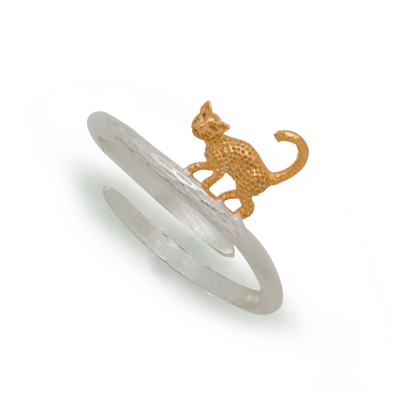Fashionable Adjustable Leopard Cool 925 Sterling Silver Ring