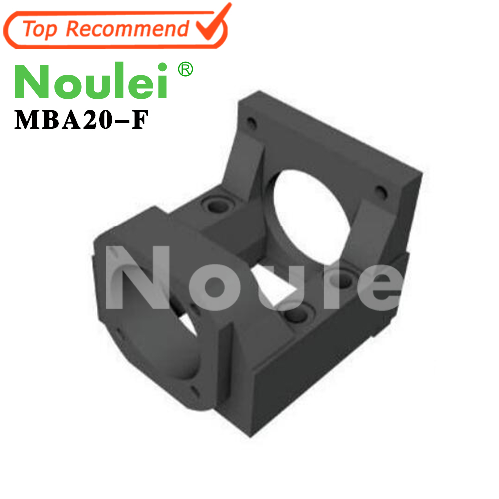 Noulei Motor Bracket MBA type ( MBA20 ) MBA20-F Black for ball screw 25 diameter image