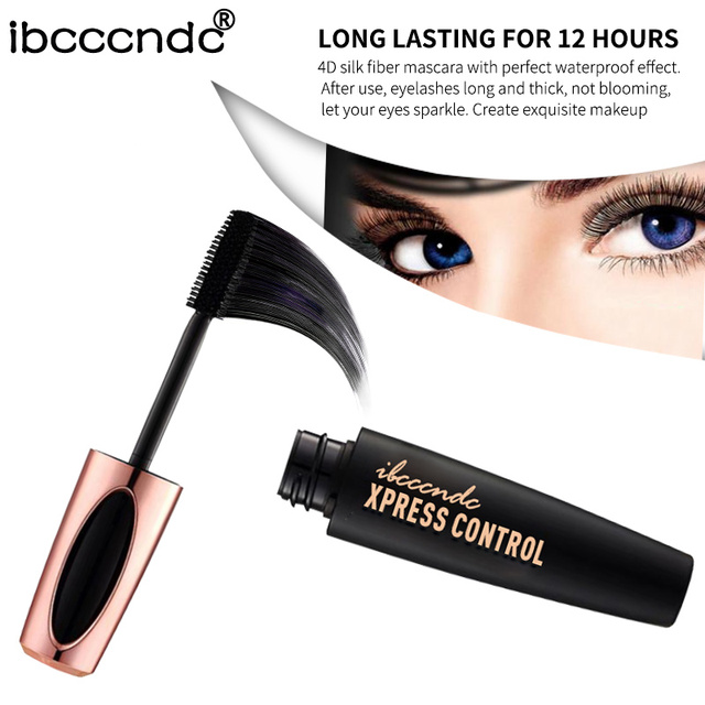 New 4D Silk Fiber Lash Mascara Waterproof Rimel 3d Mascara For Eyelash Extension Black Thick Lengthening Eye Lashes Cosmetics 3