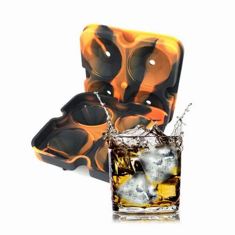 Hoomall 3D Ice Cube Mold Maker 4 Hohlraum Diamant Form Silikon Eisform Umweltfreundliche Bar Party Schokolade Form Trays Küche werkzeuge