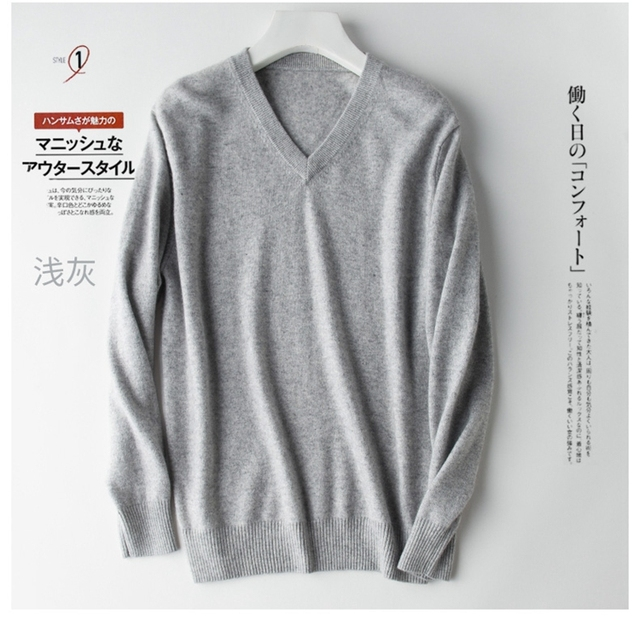 Pullover V-Neck Sweater men 2020 autumn winter cashmere cotton blend warm jumper clothes pull homme hiver man hombres sweater 2