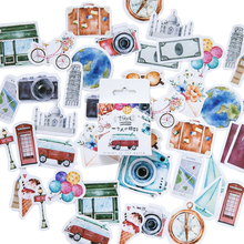 46 Pcs/lot Classic Beautiful Vacation Scrapbooking and Travel Diary Stickers For Album Waterproof Labels Office School