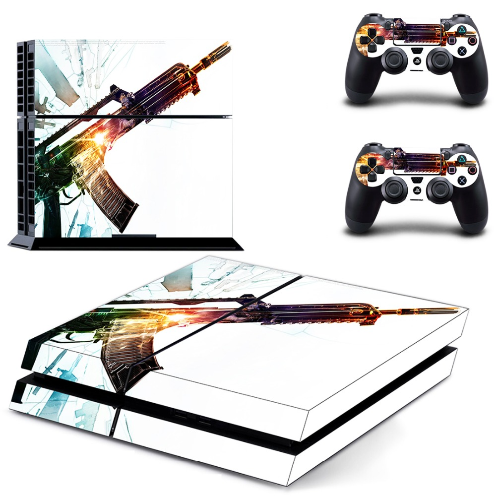 Game Battlefield 1 PS4 Skin Sticker Decal Vinyl for Sony Playstation 4 Console and 2 Controllers PS4 Skin Sticker in Stickers from Consumer Electronics