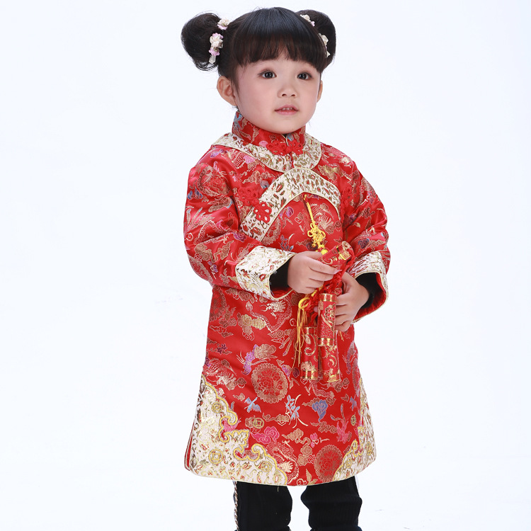 Free shipping Newest  Red Hot Chinese Style costume baby Kid Child Girl Cheongsam Dress Qipao Ball Gown Princess girl veil Dress dress coat traditional chinese style qipao full sleeve cheongsam costume party dress quilted princess dress cotton kids clothing