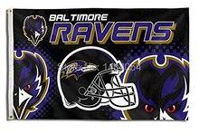 Baltimore Ravens  Helmet  logo Flag  150X90CM Banner 100D Polyester3x5 FT flag brass grommets 001, free shipping