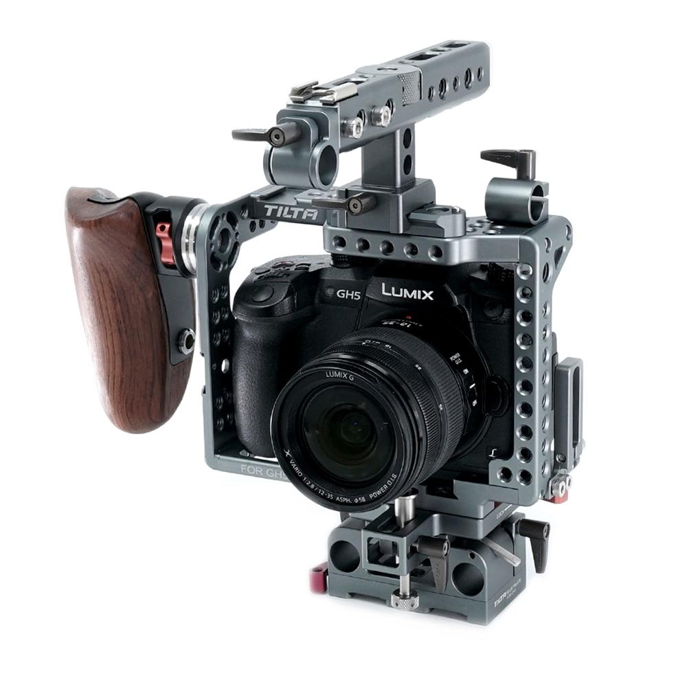 DIGITALFOTO TILTA ES-T37A/ES-T37 New handle Panasonic GH4/GH5 Camera Lightweight rig Cage supports 15mm rod Free shipping panasonic es 3042