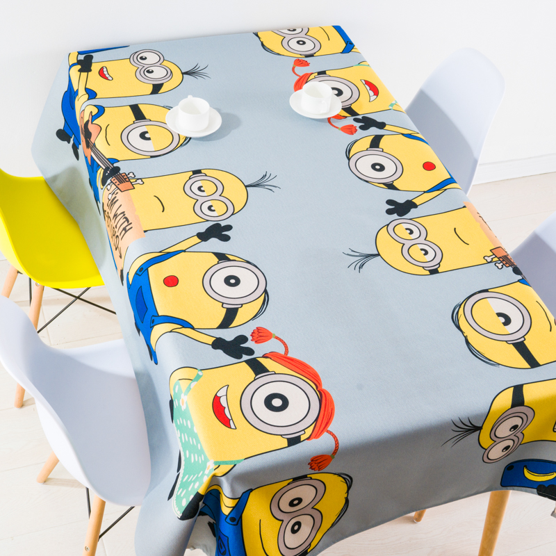 American style Rural Cartoon anime Lovely Modern Home decor Linen Table Cloth Dining Tablecloth Coffee Restaurant Cloth Cover