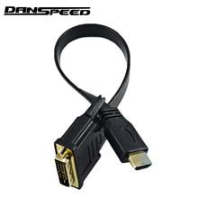 DANSPEED 30cm 1Ft HDMI Male to DVI-D 24+1 Pin Male Video Ada