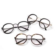 Gafas Vintage Espejo Plano Gafas Mujeres de Los Hombres de Metal Marco de la Lente Clear Nerd Geek Ronda EyeglassJ3