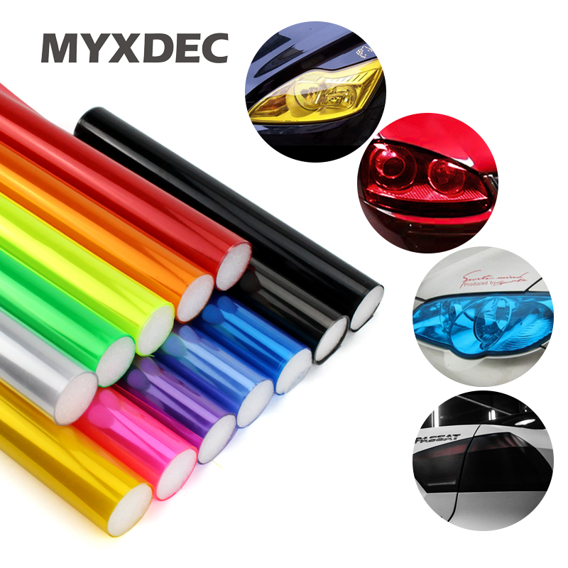 30cm*1m Auto Car Sticker Smoke Fog Light HeadLight Taillight Tint Vinyl Film Sheet Available Car Decoration Decals Car Styling