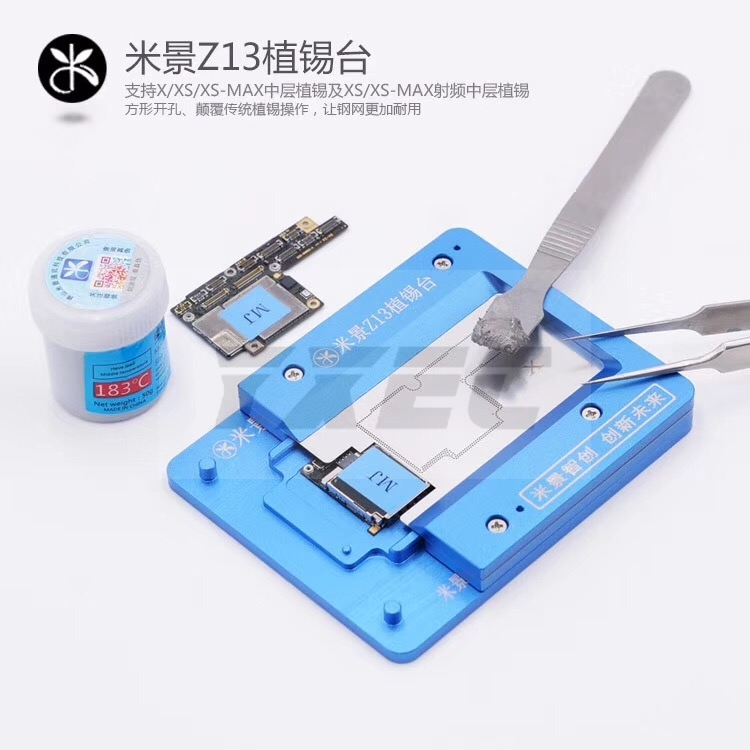 MJ Z13 Motherboard Holder Fixture With BGA Reballing Stencil For IPhone X XS XS MAX Soldering Repair Tools