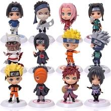 2019 new 1PC random 6cm Anime figure figurine Naruto Toy Sasuke Kakashi Sakura Gaara Itachi Madara Killer Bee figure Model Doll