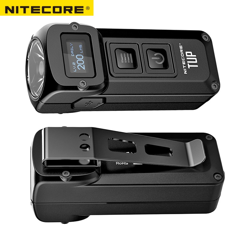 NITECORE TUP USB Rechargeable MINI Flashlight CREE XP L HD V6 max 1000 LM beam distance 180M Revolutionary Intelligent EDC Torch-in Portable Lighting Accessories from Lights & Lighting