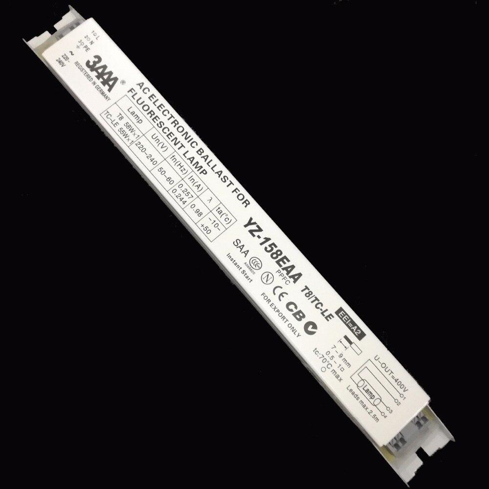 3AAA YZ-158EAA 55-60 W 220-240 V Standard ECG démarrage instantané AC Ballast électronique pour T8 58 W * 1 TC-LE 55 W * 1 lampe fluorescente