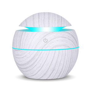 130ML USB air humidifier wood grain essential oil diffuser ultrasonic cold air purifier 7 color change LED night light