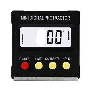 Image 2 - Digitale hoekzoeker Gradenboog elektronische level box 360 Graden digitale inclinometer hoek meten met magneten Draagbare