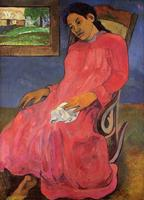 Melancholy by Paul Gauguin oil Painting Canvas High quality hand painted Art Reproduction Home Decor.