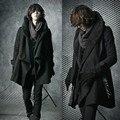 2017 estilo Británico de Los Hombres rompevientos chaqueta cálida personalidad de la moda de los hombres gabardina larga
