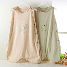 Y55 Pure font b organic b font cotton vest baby sleeping bag anti lock is kicking