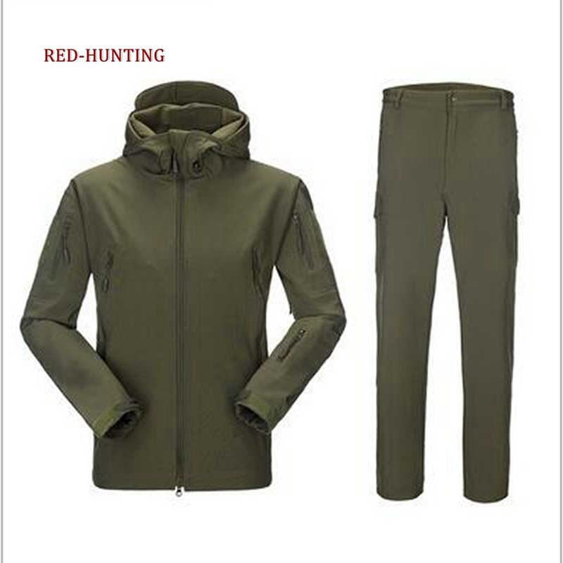 Tactical TAD Sets Jacket Pants Army Military Softshell Suits Men Outdoor Hunting Clothing Outdoor Waterproof Men