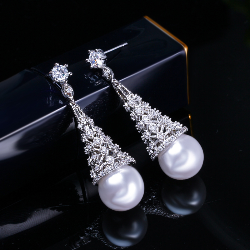 Pearl Drop Earrings 4