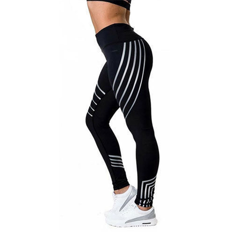 2017 Fashion Sporting Leggings Slim High Waist Elasticity Leggings Fitness Push up Breathable Woman Pants Leggings Legins