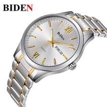 2016 hombres de los Relojes de lujo Reloj de la marca BIDEN 1001 Digital de cuarzo de los hombres relojes de pulsera de buceo 30 m Moda Casual reloj relogio masculino