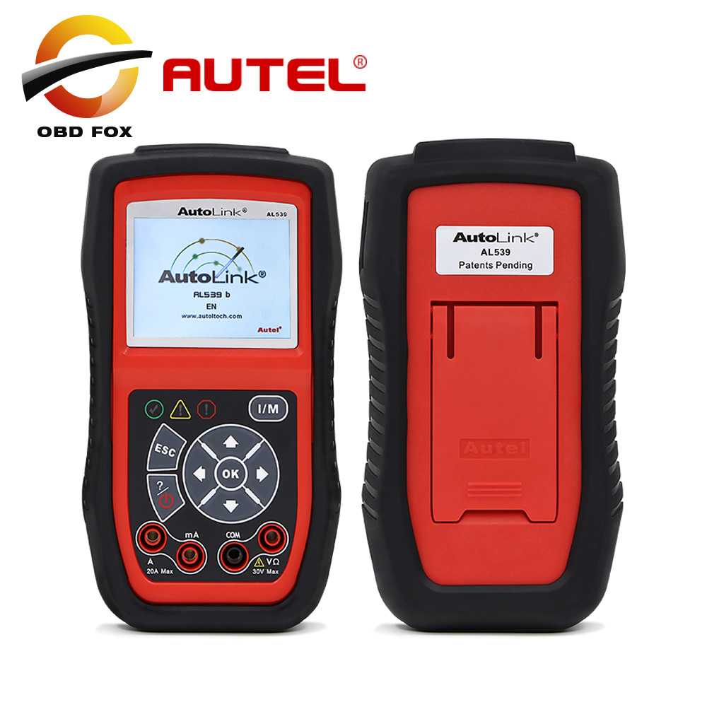Autel autolink al539b obdii code reader electrical test tool easy to use support update online