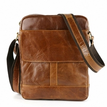 2016 New Arrival Men's Genuine Leather Shoulder Bag vintage Crossbody Bags For Men Messenger Bag Portfolio Briefcase LI-1422