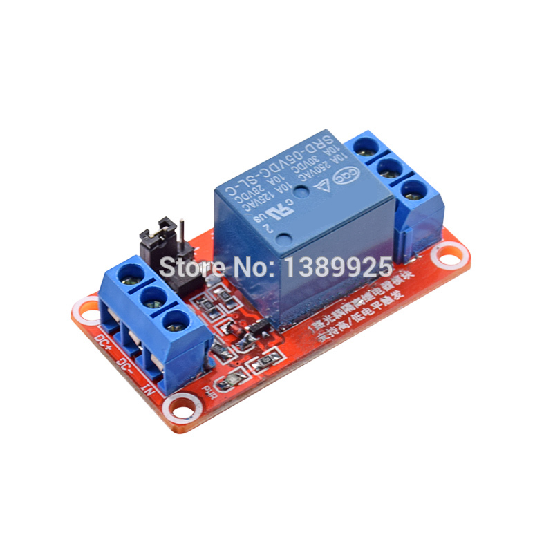 20PCS 5V One 1 Channel Relay Module Board Shield With Optocoupler Support High And Low Level Trigger