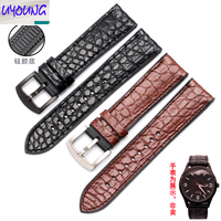 UYONG crocodile leather + waterproof silicone bottom leather watch with accessories 18 20 22 24mm male and female needle buckle