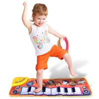 Musik teppich klavier decke Hand klavier spielzeug für kinder, kinder, Tragbare Faltbare Multifunktions Sicher und weich Elektronische klavier