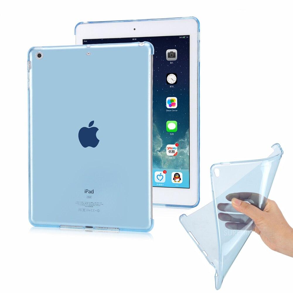 Belle couverture pour apple ipad pro 10.5 cas + effacer souple flexible fond arrière + tpu étui en silicone d'origine smart couverture partenaire