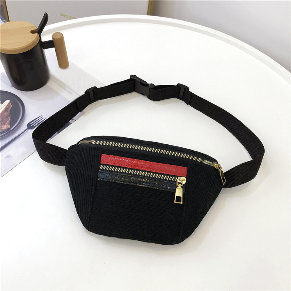 Bridal & Wedding Party Jewelry Bags For Women 2019 New Fashion Neutral Outdoor Zipper Sequin Messenger Bag Sport Chest Bag Waist Bag Cross-shoulder Pocket