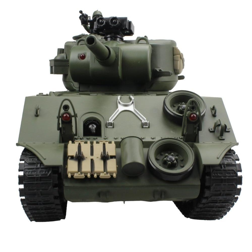 2.4G دبابة مع جهاز للتحكم عن بُعد USA شيرمان M4A3 عربة 15 قناة 1/20 التكتيكية مركبة قتال رئيسية دبابة عسكرية نموذج مع اطلاق النار هواية لعب-في دبابات تعمل بالتحكم عن بعد من الألعاب والهوايات على  مجموعة 2