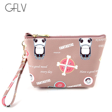 GFLV Brand Fashion Cartoon Cosmetic Case Women Travel Makeup