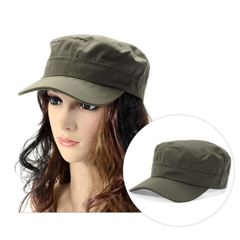 Military Hat Army Cadet Patrol Castro Cap Men Women Driving Summer Hats b2bc297184