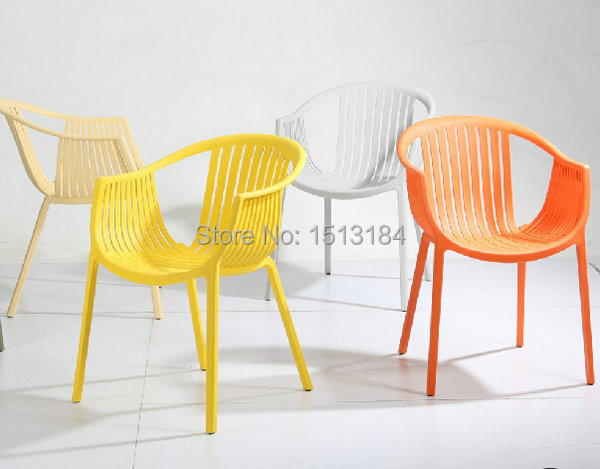 Stacking Plastic Garden Furniture Rattan Style Outdoor Chair
