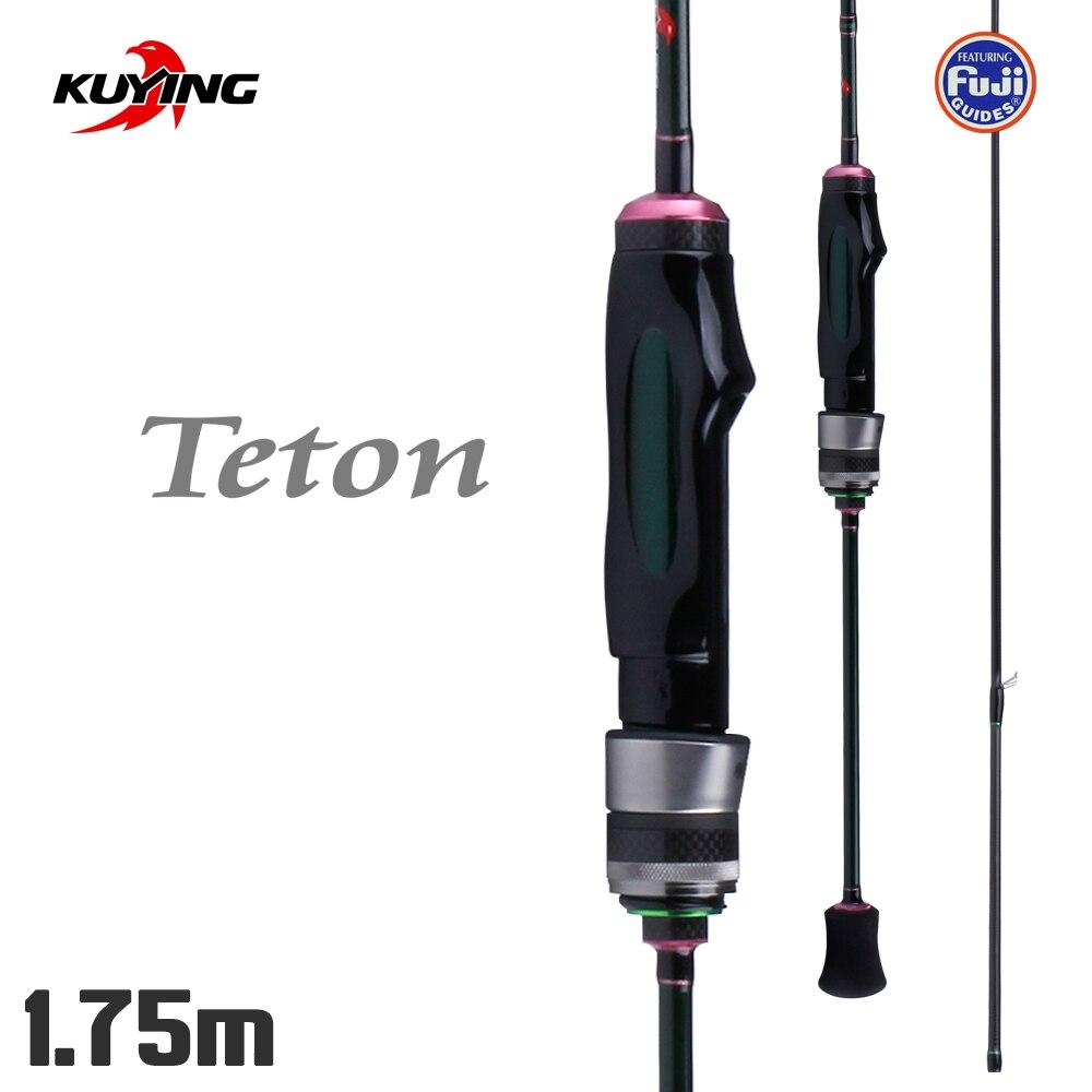 KUYING Teton 1.75 m Filature Flux Pêche Douce Leurre Tige Pôle Canne Tiges Carbone FUJI Pièces 0.3g- 3g Lumière Rapide Vitesse D'action