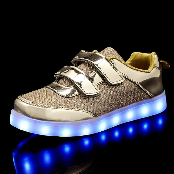 2018 New 25-37 Size USB Led child Shoes With Light Up Kids Luminous Sneakers Children's Glowing Shoe enfant for Boys