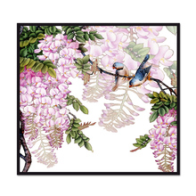 (No Framed) Factory wholesale Flower and bird series poster Custom Canvas Print On Printing Wall Pictures Home Decoration